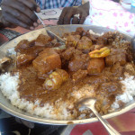 peanutsauce rice and beef from senegal