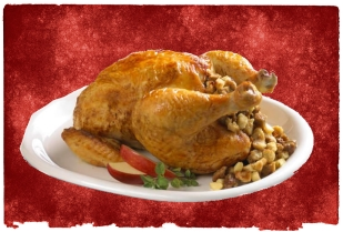 Moroccan recipe for stuffed couscous chicken with almonds and raisins